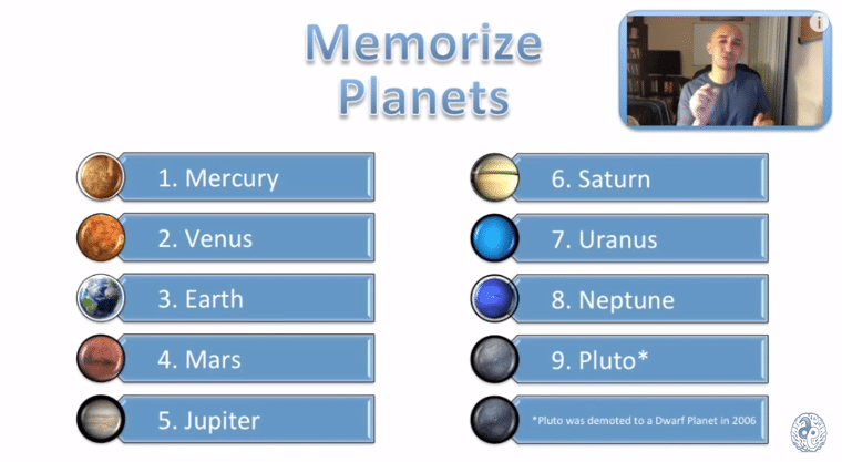 ways to memorize the planets - photo #7